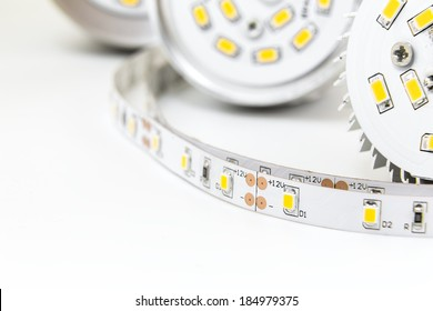 part of E27 LED lamps with a similar chips technology and LED strip with 3-chip SMD modules uninsulated, free of silicone sealing provides