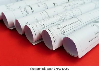 La parte del proyecto de ingeniería. Rollo de proyectos de tecnología