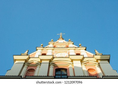 Part of the exterior of a church in Old Town Warsaw
