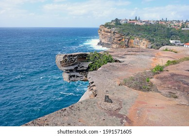 A part of Federation Cliff walk Watsons Bay with stunning views on high sandstone cliffs and amazing panoramic views of the Tasman Sea