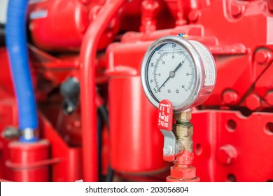 Part of fire pump in factory
