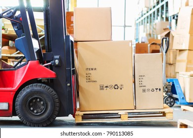 Part of a forklift in the form of a wheel and a pitchfork with a