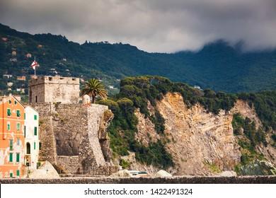 Part of fortress near Camogli, Italy