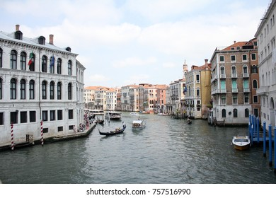 Part of grand canal in venice, Italy.