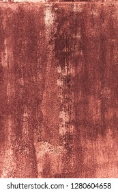 Part grungy metal surface with rust in red color. Abstract architectural background and texture for design.