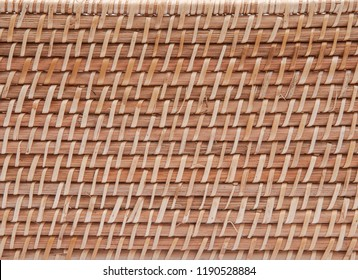 Part of handwoven in Indonesia exotic and functional rattan storage basket like art background