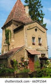 Part of historic architecture in Sighisoara, Transylvania