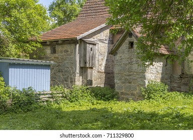 part of a historic rural building in sunny ambiance