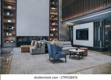 Ein Teil der Hotellobby Interieur, moderner Stil.