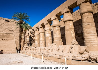 Part of the Karnak temple, Luxor, Egypt (Ancient Thebes with its Necropolis). UNESCO World Heritage site