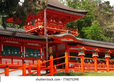 Part of the Kasuga Shrine in Nara, Japan - UNESCO World Cultural Heritage