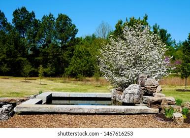 Part of Korean Bell Garden at Meadowlark Botanical Gardens in Vienna, Virginia