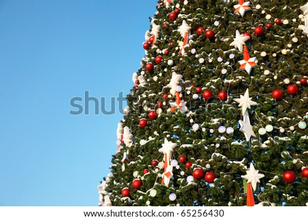 Part Large Outdoor Christmas Tree Snow Stock Photo Edit Now