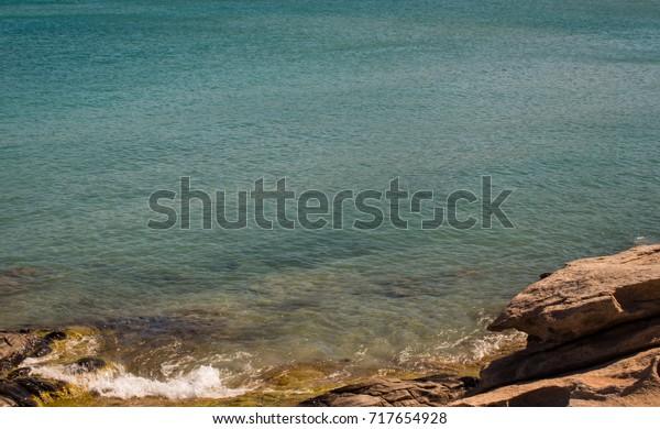 Part of Mediterranean cove beach on Greek Island