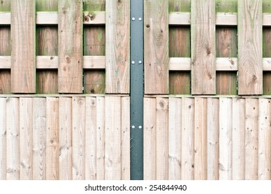 Part of a modern wooden fence as background