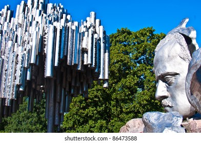 part of the monument for Sibelius in Helsinki