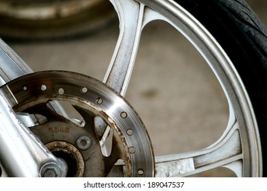 A part of motorcycle wheel