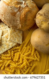 part of the new food triangle, cereals, and rice and potatoes. bread, and pasta