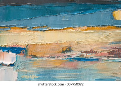 part of oil painting with brush strokes