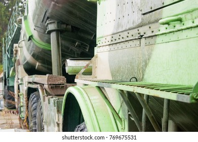 Part of the old fighting car.