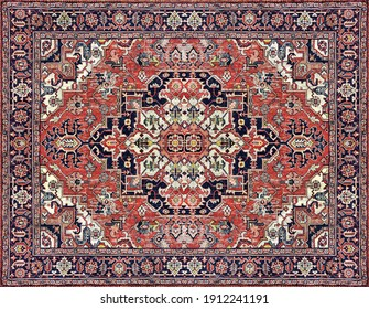 Part of Old Persian Carpet Texture, abstract ornament milky blue