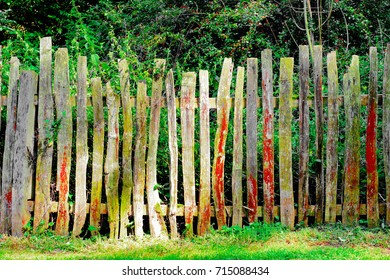Part of an old picket fence