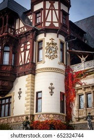Part of the Peles Castle museum. Exterior wall detail.