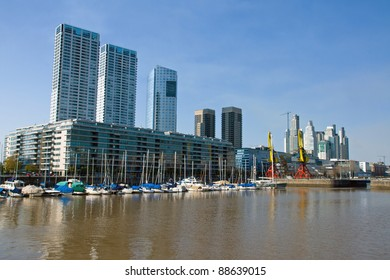 Part of Puerto Madero in Buenos Aires