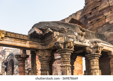 Part of the Qutb complex (Qutub),  an array of monuments and buildings at Mehrauli in Delhi, India. UNESCO World Heritage Site