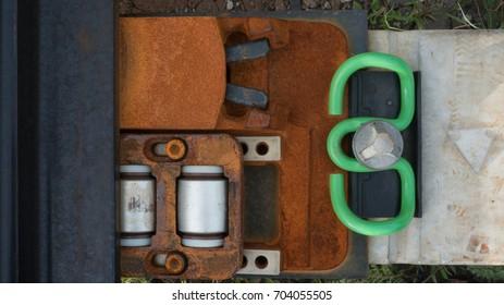 part of railroad switch set