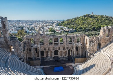 Part of ruins of Acropolis of Athens, Ancient Greece