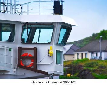 Part Of Ship At Mallaig Harbour , Scotland , UK