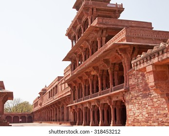 Part of the sixteenth century city of Fatehpur Sikri in Rajasthan, India, built to be the political capital but abandoned after just 14 years because of the lack of a reliable water supply