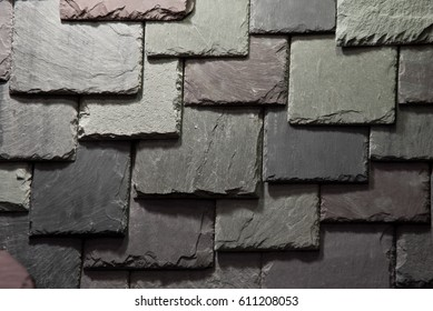 A part of slate roof. Natural photo.