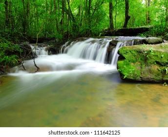 Part of Soi Sawan waterfall. National Park in Pha Taem Ubon Ratchathani Thailand.