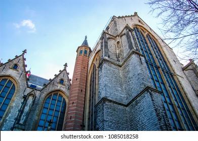 Part of the St. John's Church Gouda Netherlands.