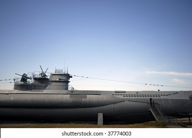 Part of submarine from World War 2 - It is located on the beach in Laboe near Kiel in Germany. Type VII U-Boat U-995.