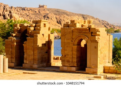 Part of the Temple of Isis from Philae (Agilkia Island in Lake Nasser), a part of the UNESCO Nubia Campaign