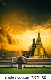 A Part of the Thai grand palace temple in Bangkok Thailand