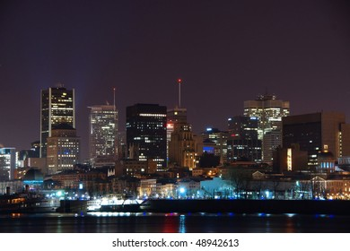 Part of Town of Montreal at Night