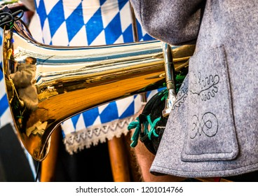 part of a typical bavarian brass band