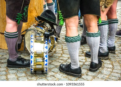 part of a typical bavarian musician - photo