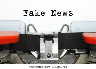 Part of typing machine with typed Fake News words