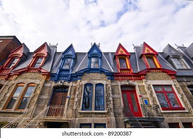 Part of the Victorian Homes with roof color in Montreal # 2