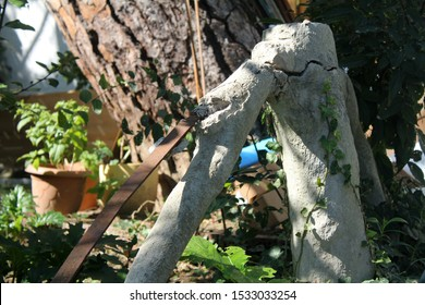 Part view of old garden banister.