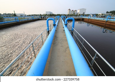 Part of a waste water treatment scene
