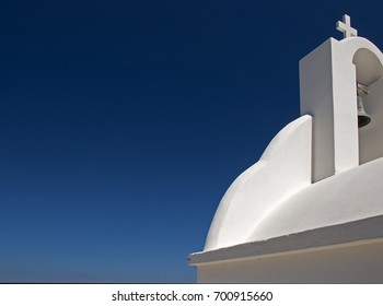 Part of a white chapel in Naxos island, Greece/Blue and white