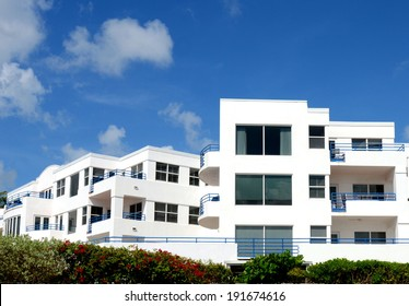 Part Of A White Tropical Condominium Complex