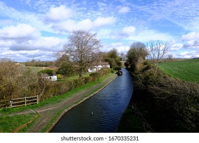 Part of the Wndover Arm canal at Little Tring, in the county of Hertfordshire, England.
