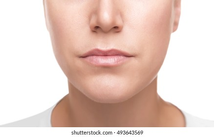 Part of woman's face. Clean young female facial skin, close-up.